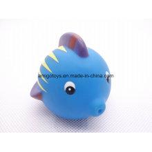 Brinquedos engraçados do peixe para o tempo do banho das crianças
