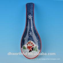 Collar de cerámica de alta calidad de la cuchara del muñeco de nieve de la Navidad
