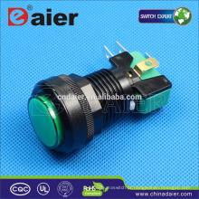 Daier botão interruptor micro interruptor de botão de pressão iluminado