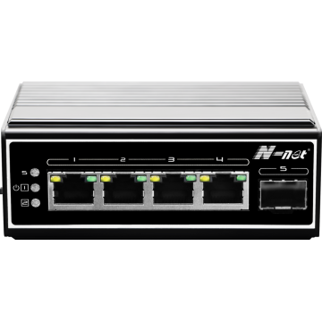 5-portars full gigabit industriell switch