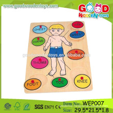 OEM Welcomed Wooden Educational Toy Body Puzzle Toys for Sale