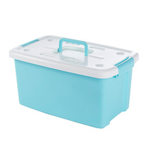 Plastic Storage Box Container with Handle for Storage (SLSN015)