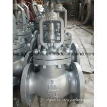 Válvula de globo de extremo de brida de acero al carbono