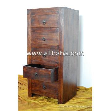Coffre en bois de Sheesham