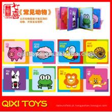 Made in China memória macia livro animal pano bebê nomes livro