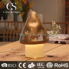 Коричневый керамический гриб настольная лампа для дома