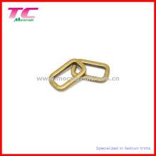 Boucle ovale en métal anti-laiton solide pour sac