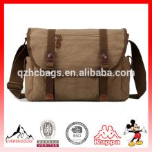 Bolsas de hombro de la bolsa de mensajero de la lona de algodón para los hombres