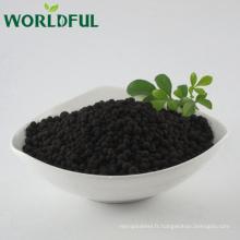 Le meilleur contrôle de qualité libèrent organique humate urée blackgold granulaire engrais prix