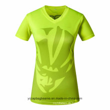Großhandelsdamen oder Frauen Jersey V-Neck T-Shirts