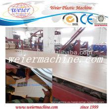 Tablero plástico de madera de PVC / PP / PE que hace la máquina