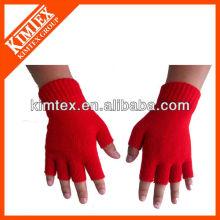 2015 Unisex wholesale acrylic custom knitted drinking gloves