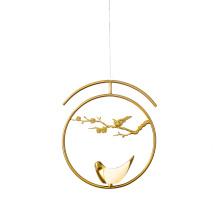 Best Design Chinese Style Modern Gold Birds Chandelier Led Restaurant Pendant Lamp