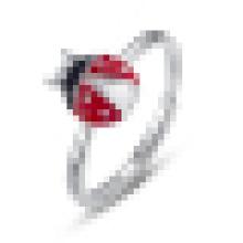 925 Sterling Silver Ladybug Dedo Animal Anéis para As Mulheres Anel De Noivado De Casamento Jóias Anel Feminino
