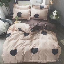 juego de cama de poliéster y estampado