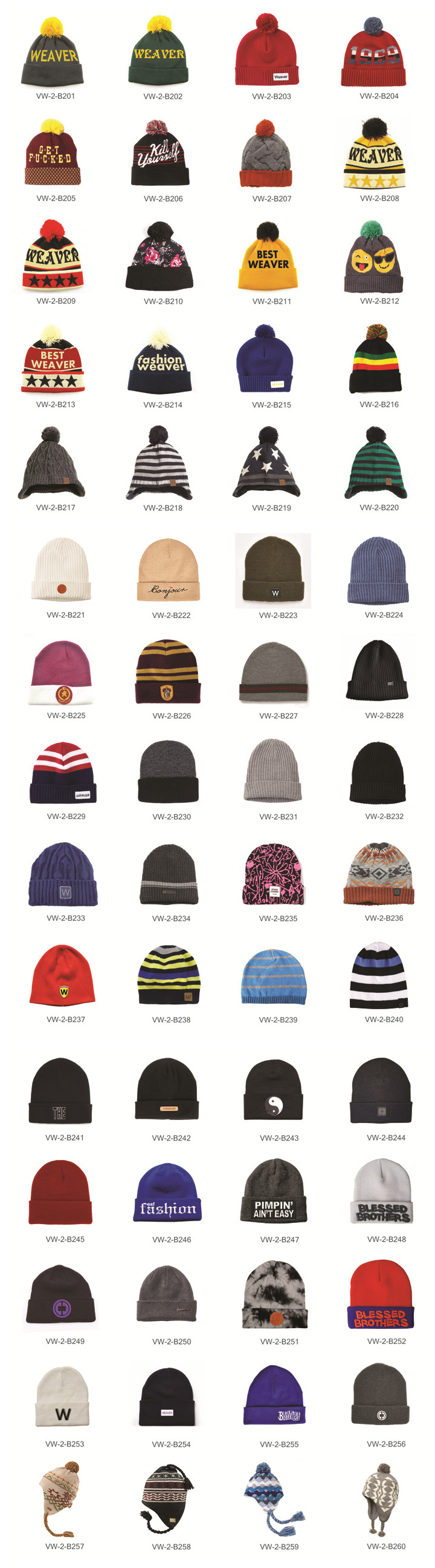 beanie knitting hats catalogue