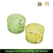 Glas Trommel Schüssel Citronella Kerze für Garten Wohnkultur