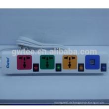 Heißer Verkauf 4 Weisenauslass Universalüberlastungsschutz-elektrische Einfaßung mit usb