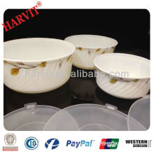 Opal Glass Food Storage Bowls Set With Environmental Protection PP Lid / Food Container For Fridge Microwave Oven Use