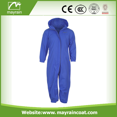 Polyester Kids Black Blue Red Rainsuit