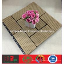 Günstiger Preis für WPC-Deckfliese für den Außenbereich, 100% recyclebar, UV-beständig, wasserdicht Dimentional stabil, einfache Installation