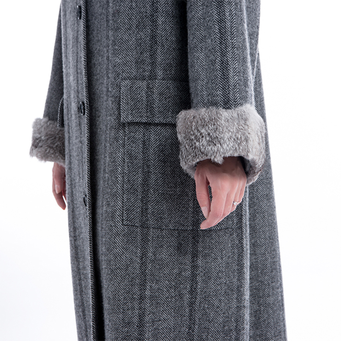 Details of New Long Pure Cashmere Winter Clothes
