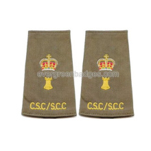 High Quality Personalized Embroidery Epaulettes