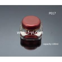 Tarro de cristal cosmético vacío de lujo de 100 ml