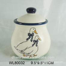 2016 popular animal design ceramic spice jar