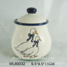 2016 popular design animal cerâmica spice jar