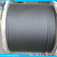 Tipo de clip de cabo de aço AISI 316 aço inoxidável 7x7 3.2mm