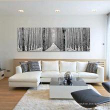 Pared interior de la sala de estar Pintura decorativa de cristal Paisaje natural