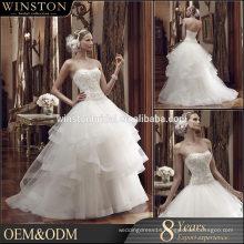 New Luxurious High Quality transparent wedding dress