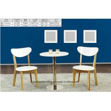 Современные твердой древесины стол и стул для гостиной