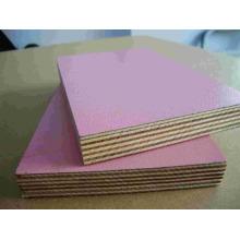 melamine laminated plywood matt/glossy/embossed finish /wood grain plywood for cabinet