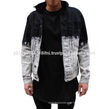 Men's jean jacket short jeans with long sleeves denim jacket accept OEM service