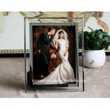 Arte creativo del marco de la foto del cristal cristalino para la decoración casera