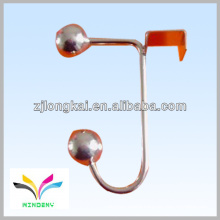 chrome plated J shape industrial shelf for hanging clothes steel beauty industrial wall shelf