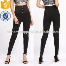Черный высокой посадкой корсет Леггинсы OEM и ODM Производство Оптовая продажа женской одежды (TA7035L)