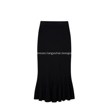 Women's Knitted Elastic Waist Fishtail Lady Skirt