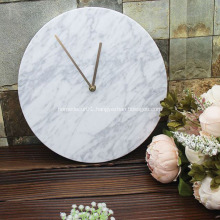 Marble wall clock brass pointer hotel home decoration