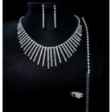 Weding Style Necklance and Earring Fashion Jewellery Set