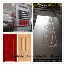 5 layers door skin melamine hot press machine/HDF veneering moulding door skin