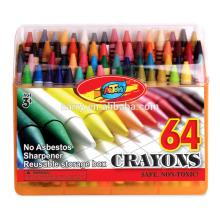 Lápis de cera 64c para crianças desenharem 0,8 * 8,8cm