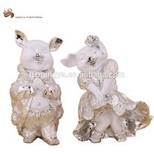Стол украшения дом украшения смолаы симпатичные свинья форма животного фигурка