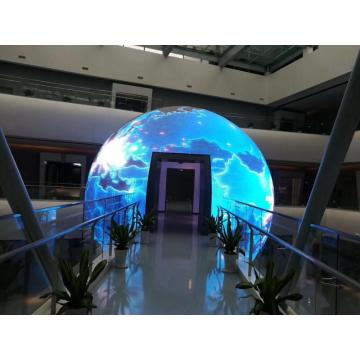 Display a led sfera da interno diametro 2,5 m P4