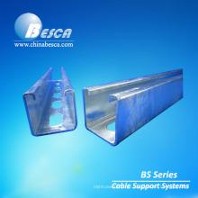 Canal de aço entalhado galvanizado 41 * 41mm do canal U do canal de apoio