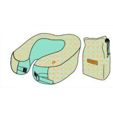 Printed U-shaped travel pillow