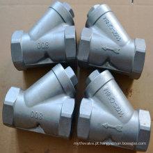 Filtro roscado fêmea de aço inoxidável 304/316 com Bst / NPT