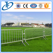 Galvanized steel traffic barrier crowd control